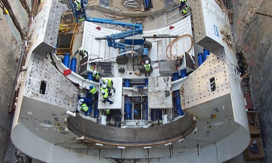 Excavación mediante tuneladora